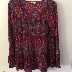 Buckles Patrons of Peace Long Sleeve blouse